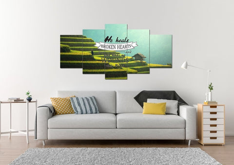 Psalm 147:3 Canvas Wall Art Print - Christian Walls