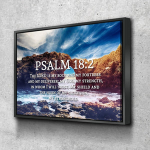 Psalm 18:2 Canvas Wall Art Print - Christian Walls