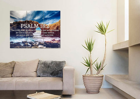 Image of Psalm 18:2 Canvas Wall Art Print - Christian Walls