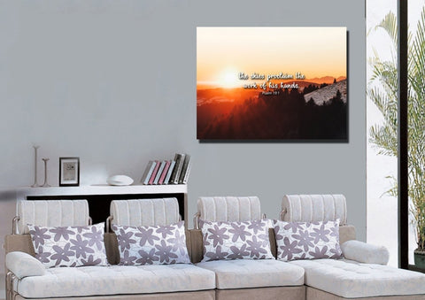 Psalm 19:1 Canvas Wall Art Print - Christian Walls