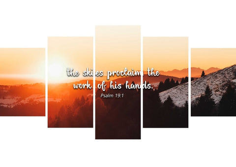 Image of Psalm 19:1 Canvas Wall Art Print - Christian Walls