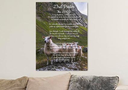 Psalm 23 #3 The Lord is my Shepherd Canvas Wall Art Print