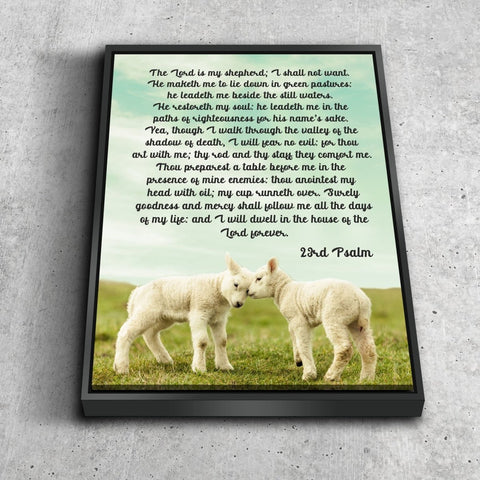 Psalm 23 #4 The Lord is my Shepherd Canvas Wall Art Print