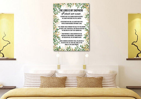 Psalm 23 #5 The Lord is my Shepherd Canvas Wall Art Print