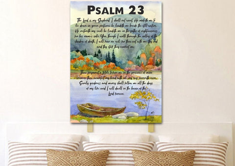 Image of Psalm 23 #6 The Lord is my Shepherd Canvas Wall Art Print