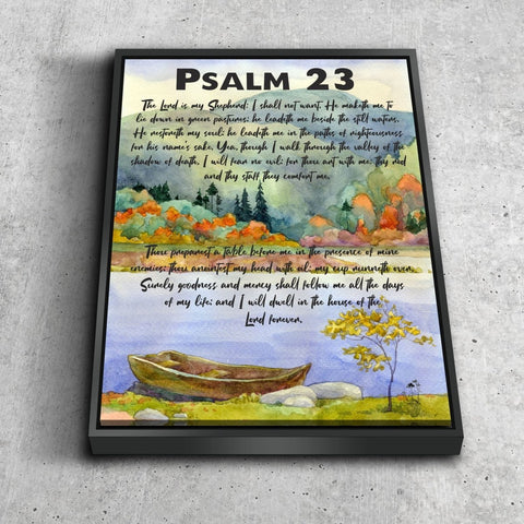 Psalm 23 #6 The Lord is my Shepherd Canvas Wall Art Print