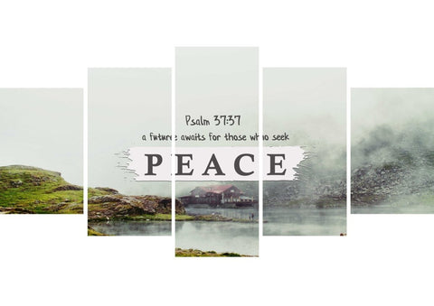 Image of Psalm 37:37 Future for those who seek Peace Bible Verse Wall Art Canvas