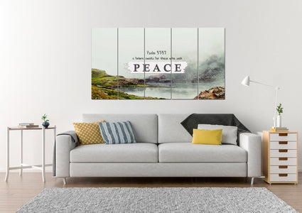 Psalm 37:37 Future for those who seek Peace Bible Verse Wall Art Canvas
