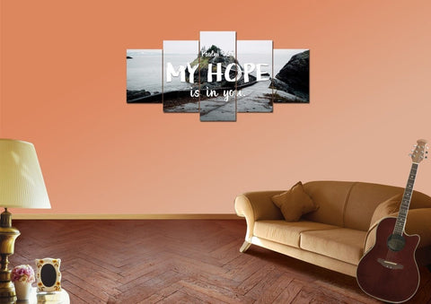 Image of Psalm 39:7 My Hope is in You Bible Verse Wall Art Canvas
