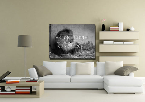 Revelation 5:5 Canvas Wall Art Print - Christian Walls