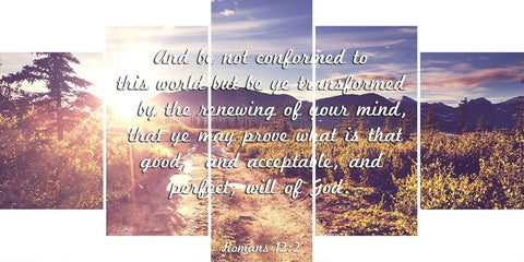 Romans 12:2 #1 KJV Do not conform to the World Bible Verse Wall Art Canvas