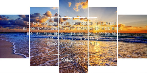 Romans 12:2 #10 NIV Do not conform to the pattern Bible Verse Wall Art Canvas