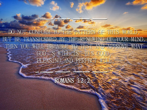 Image of Romans 12:2 #10 NIV Do not conform to the pattern Bible Verse Wall Art Canvas