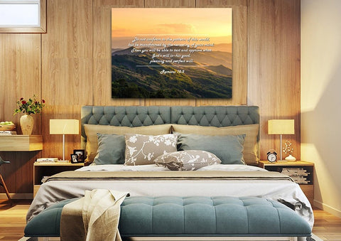 Romans 12:2 #2 NIV Do not conform to the pattern Bible Verse Wall Art Canvas