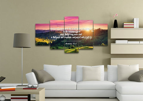 Image of Romans 12:2 #3 KJV Do not conform to the World Bible Verse Wall Art Canvas