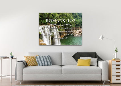 Romans 12:2 #4 NIV Do not conform to the pattern Bible Verse Wall Art Canvas