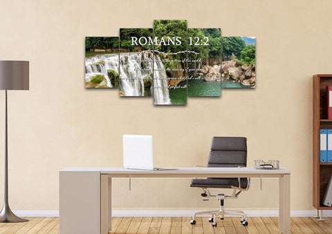 Image of Romans 12:2 #4 NIV Do not conform to the pattern Bible Verse Wall Art Canvas