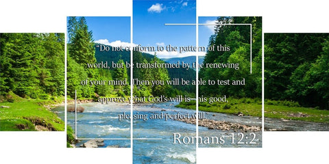 Romans 12:2 #5 NIV Do not conform to the pattern Bible Verse Wall Art Canvas
