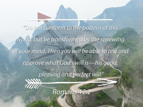 Image of Romans 12:2 #6 NIV Do not conform to the pattern Bible Verse Wall Art Canvas