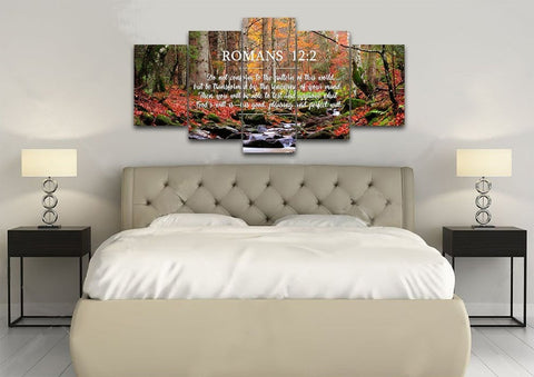 Romans 12:2 #7 NIV Do not conform to the pattern Bible Verse Wall Art Canvas