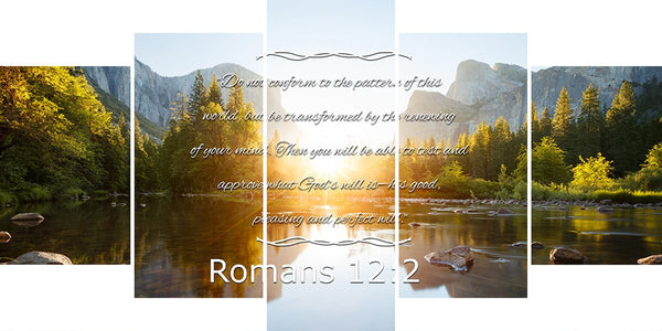 Romans 12:2 #8 NIV Do not conform to the pattern Bible Verse Wall Art Canvas