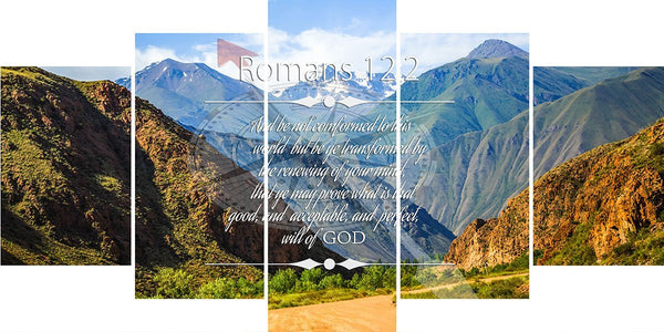 Romans 12:2 #9 NIV Do not conform to the pattern Bible Verse Wall Art Canvas