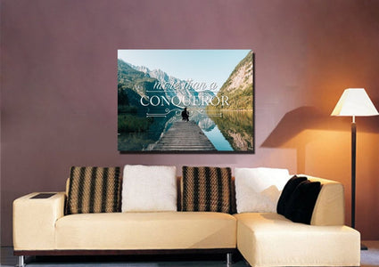 Romans 8:37 Canvas Wall Art Print - Christian Walls