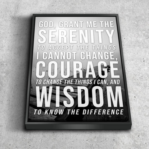 Serenity Prayer #1 'God Grant Me Serenity' Framed Canvas Print