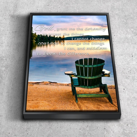 Image of Serenity Prayer #10 'God Grant Me Serenity' Framed Canvas Print