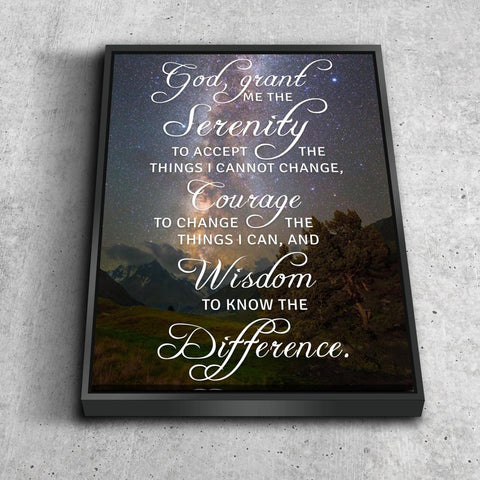 Serenity Prayer #3 'God Grant Me Serenity' Framed Canvas Print