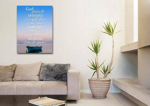 Serenity Prayer #4 'God Grant Me Serenity' Framed Canvas Print