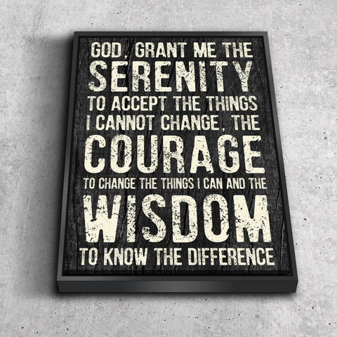 Serenity Prayer #5 'God Grant Me Serenity' Framed Canvas Print
