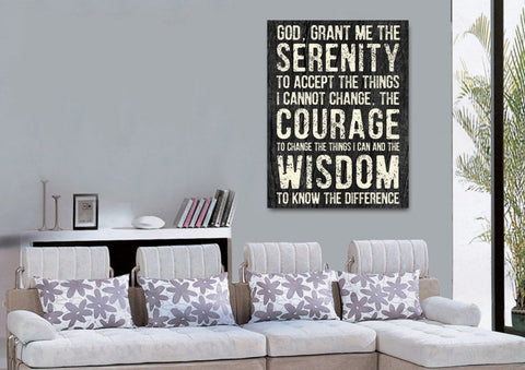 Image of Serenity Prayer #5 'God Grant Me Serenity' Framed Canvas Print