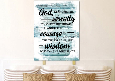 Serenity Prayer #6 'God Grant Me Serenity' Framed Canvas Print