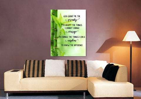 Image of Serenity Prayer #9 'God Grant Me Serenity' Framed Canvas Print