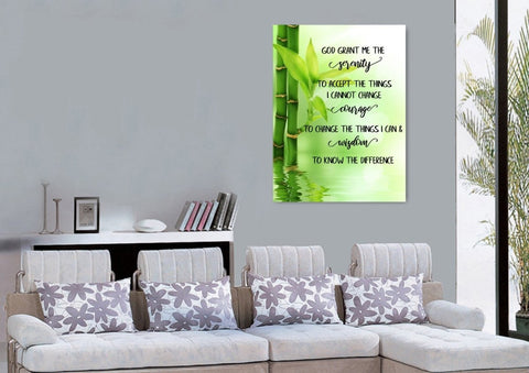 Serenity Prayer #9 'God Grant Me Serenity' Framed Canvas Print