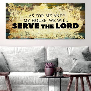 Serve the Lord - Christian Signs for Home