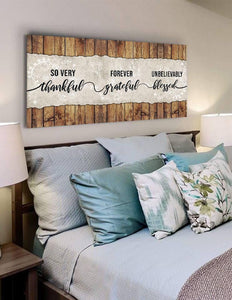 So Thankful & Blessed - Christian Signs for Home