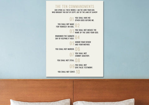 Staggered Numbered 10 Commandments #3 Wall Art