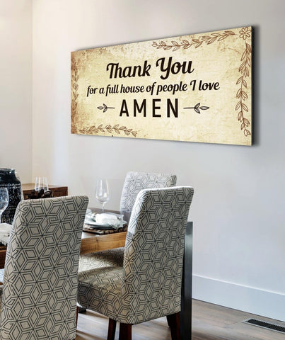 Thank you for Love - Christian Signs for Home