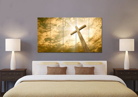 Image of The Cross Facing God's Love #1 Canvas