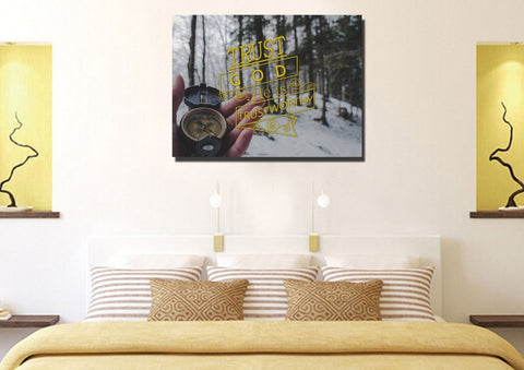 Image of Trust God He is Trustworthy Wall Art Canvas Print - Christian Walls