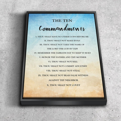 Vintage 10 Commandments #12 Wall Art