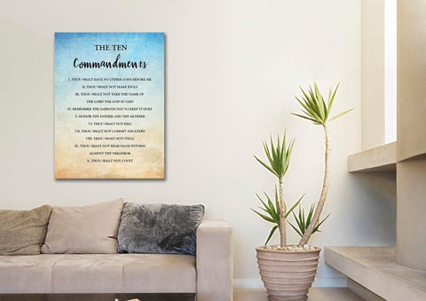 Image of Vintage 10 Commandments #12 Wall Art