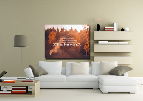 When you are tempted to lose patience with someone Canvas Wall Art Print