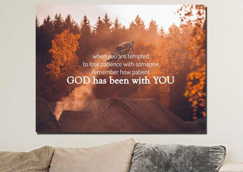 Image of When you are tempted to lose patience with someone Canvas Wall Art Print