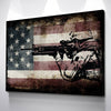 Image of Patriotic Decor | Rustic American Flag Wall Art with US Army Soldier