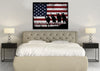 Image of Honor Courage Country American Flag Wall Art Canvas