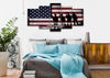 Image of For Honor, For Courage, For Country American Flag on Wall art bedroom Canvas