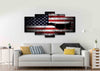 Image of American Flag with US Navy Airforce Jet Airplane Wall Art Canvas home